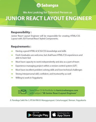 Junior React Layout Engineer