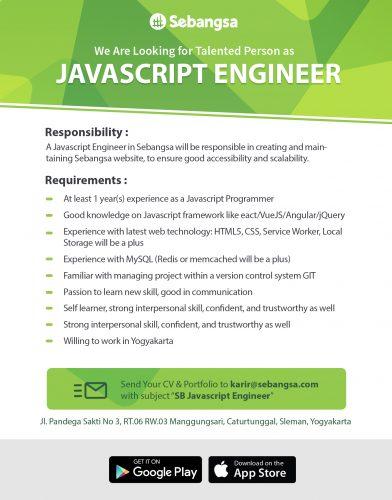 Web Engineer (Javascript)