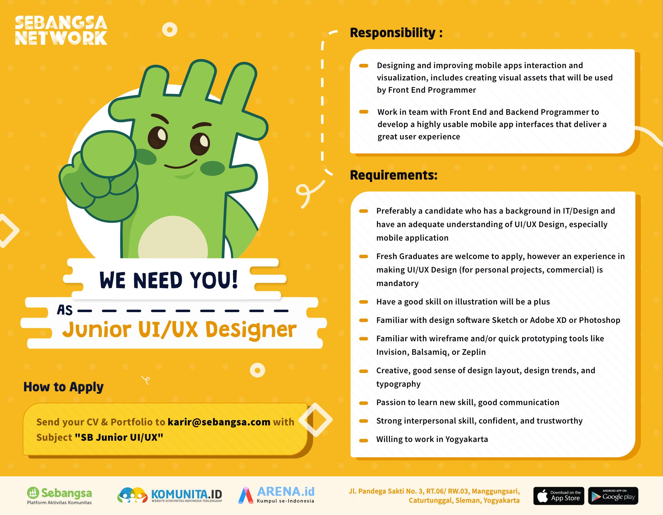Junior UI/UX Designer - Sebangsa Network