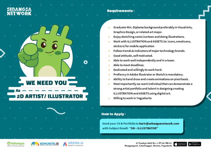 2D Artist/ Illustrator