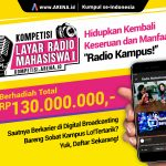 KOMPETISI LAYAR RADIO MAHASISWA I berhadiah TOTAL 130 JUTA RUPIAH!
