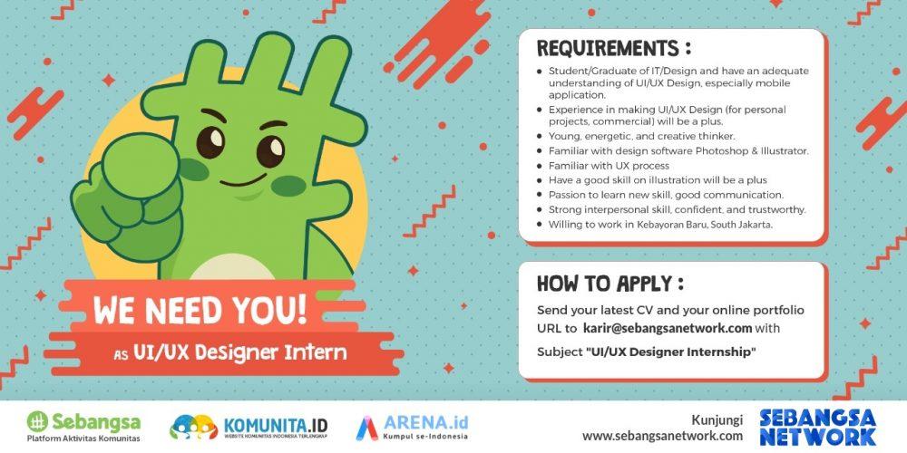 [Internship] – UI/UX Designer